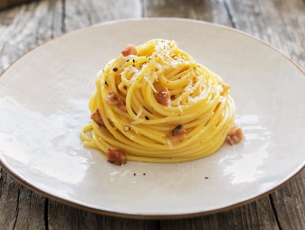 Ricetta Italiana Carbonara.Ricetta Pasta Alla Carbonara